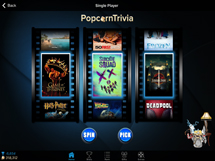 PopcornTrivia Tablet Single Player
